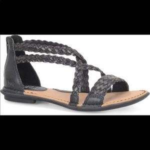 BOC Born Concepts Candee Black Braided Sandals US8